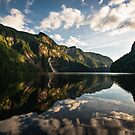 Princess Louisa Inlet at sunset. by toby snelgrove  IPA