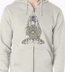 Yoga Om Chakras Mindfulness Meditation Zen 1 Zipped Hoodie