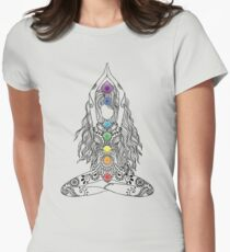 Yoga Om Chakras Mindfulness Meditation Zen 1 Women's Fitted T-Shirt