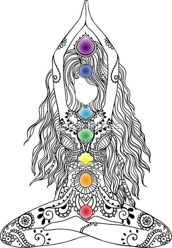 Yoga Om Chakras Mindfulness Meditation Zen 1 Stickers By