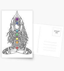 Yoga Om Chakras Mindfulness Meditation Zen 1 Postcards