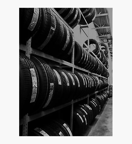 Tire Rack Photographic Print