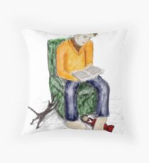 Reading opinion Throw Pillow