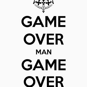 Game Over Man - Black by AledIR