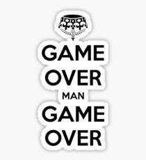 Game Over Man - Black Sticker