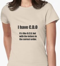 I have ocd Womens Fitted T-Shirt