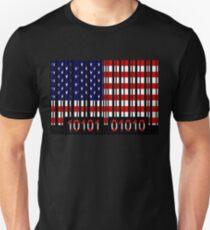 USA Barcode Flag T-Shirt