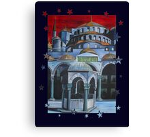 Sultan Ahmed Blue Mosque in Istanbul, Turkey Canvas Print