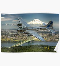 B-17 Over the Tacoma Narrows Poster
