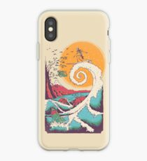 Surf Before Christmas iPhone Case