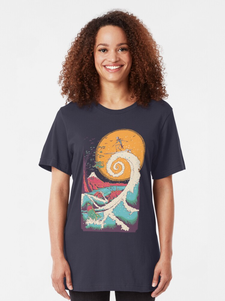 Alternate view of Surf Before Christmas Slim Fit T-Shirt