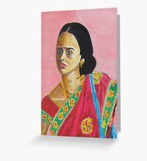 Lady in a Sari Greeting Card