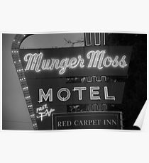Route 66 - Munger Moss Motel Poster