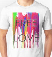 Free Love Paint Drip T-Shirt