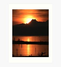 Sunset over Port Gardner Bay Art Print