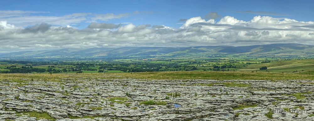 The Northern Pennines From Asby Scar by Jamie  Green