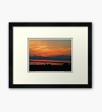 October Skies in Everett,WA Framed Print
