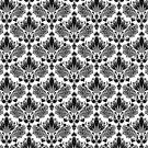 Black & White Vintage Floral Pattern by artonwear