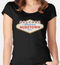 welcome to nuketown Women's Fitted Scoop T-Shirt