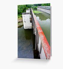 River Bridge in Illinois Greeting Card
