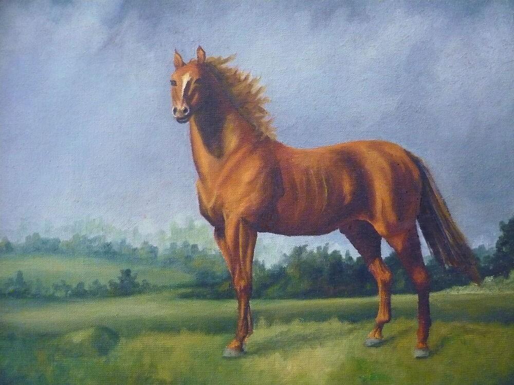 Man O'War Racehorse by Vivian Eagleson