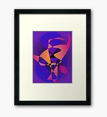 Purple Furnace Framed Print