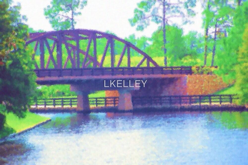 Watercolor Bridge at Walt Disney World by LKELLEY