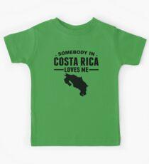 Somebody In Costa Rica Loves Me Kids Tee
