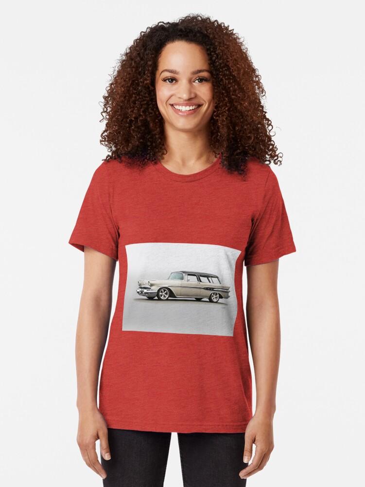 Vista alternativa de Camiseta de tejido mixto 1957 Pontiac Starliner Safari Wagon