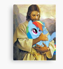 Jesus Loves Rainbow Dash Canvas Print