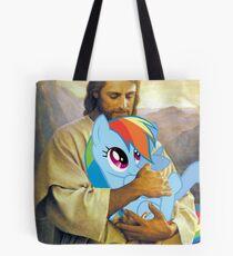 Jesus Loves Rainbow Dash Tote Bag