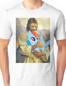 Jesus Loves Rainbow Dash Unisex T-Shirt