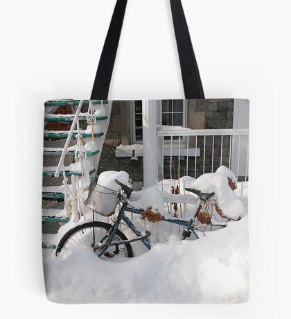 Montreal - Snow bike Tote Bag