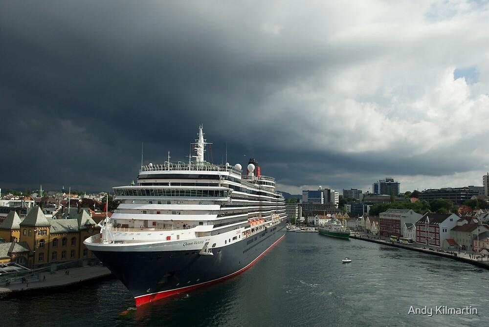 Queen Victoria, Stavanger, Norway. by Andy Kilmartin