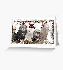 Happy Birthday - Ferrets Greeting Card