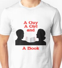 A Guy A Girl and A Book T-Shirt