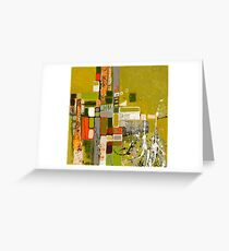 Olive green abstract III. Greeting Card