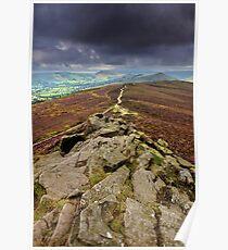 Dark Skies Over Mam Tor Ridge Poster