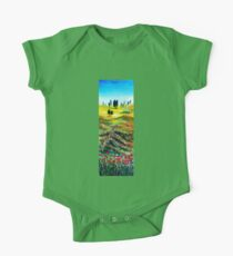 TUSCANY LANDSCAPE WITH POPPIES One Piece - Short Sleeve