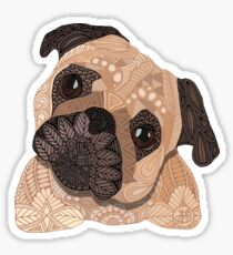 Pug Hug Sticker