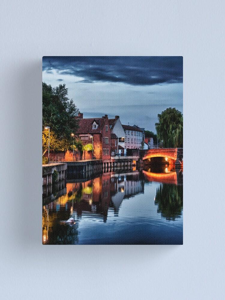 Alternate view of Fye Bridge, Norwich Canvas Print