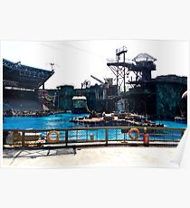 The Waterworld attraction at Universal Studios Park in Sentosa in Singapore Poster