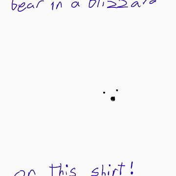 Polar Bear in a Blizzard by EhKanadian