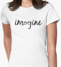 Imagine - John Lennon  Women's Fitted T-Shirt