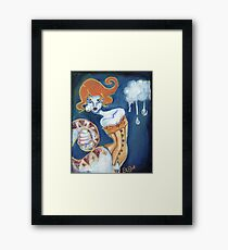 Little Tears - Corset Wearing Snake Girl Framed Print