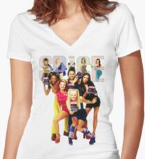 1 - 2 - 3 - 4 - 5 SPICE GIRLS! Women's Fitted V-Neck T-Shirt