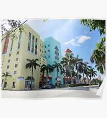 Colorful buildings. Poster