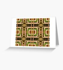 wire matrix collage Greeting Card