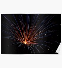 Colorful Pyrotechnics Blast Poster