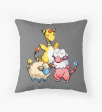 Mareep Evolutions Throw Pillow